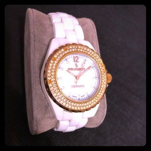 Peugeot Genuine White Ceramic Watch